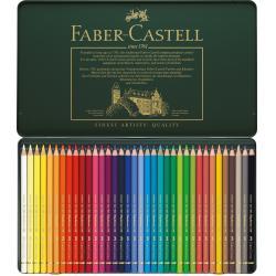 Creioane Colorate Polychromos 36 Culori Cutie Metal Faber-Castell1