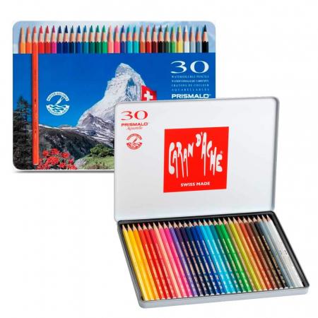 Creioane Colorate PRISMALO AQUARELLE 30 culori Caran d'Ache [1]