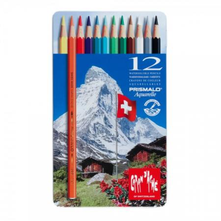 Creioane Colorate PRISMALO AQUARELLE 12 culori Caran d'Ache [0]