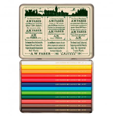 Creioane Colorate Scurte 12 Culori, Aniversare 111 Ani Polychromos Faber-Castell [0]