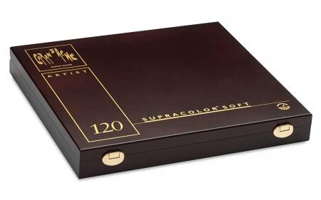 Creioane Colorate SUPRACOLOR 120 culori Wooden Box Caran d'Ache3