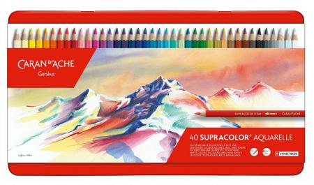 Creioane Colorate SUPRACOLOR Soft 40 culori Caran d'Ache [0]