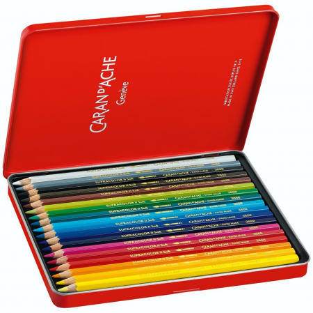 Creioane Colorate SUPRACOLOR Soft 18 culori Caran d'Ache [1]
