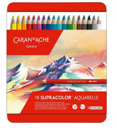 Creioane Colorate SUPRACOLOR Soft 18 culori Caran d'Ache [0]