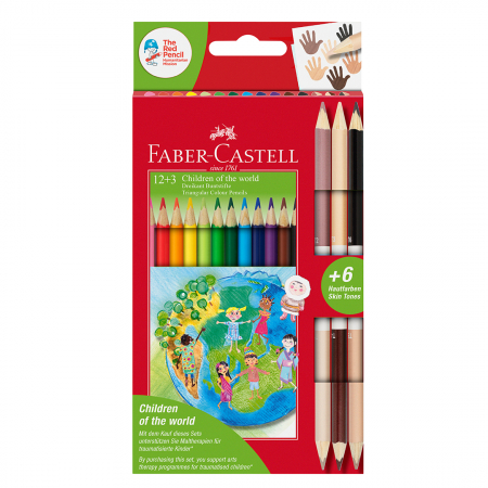 Creioane colorate triunghiulare Children of the World Faber-Castell [0]