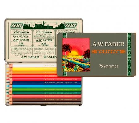 Creioane Colorate 12 Culori, Aniversare 111 Ani Polychromos Faber-Castell0
