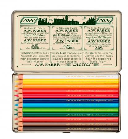 Creioane Colorate 12 Culori, Aniversare 111 Ani Polychromos Faber-Castell4