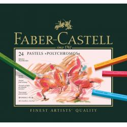 CREIOANE PASTEL 24 CULORI POLYCHROMOS Faber-Castell0