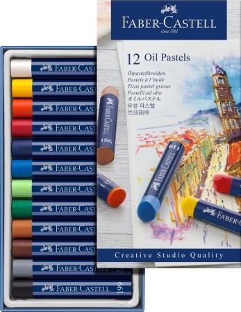 Creioane Ulei Pastel 12 Culori Faber-Castell0