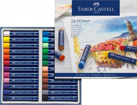 Creioane Ulei Pastel 24 culori Faber-Castell1