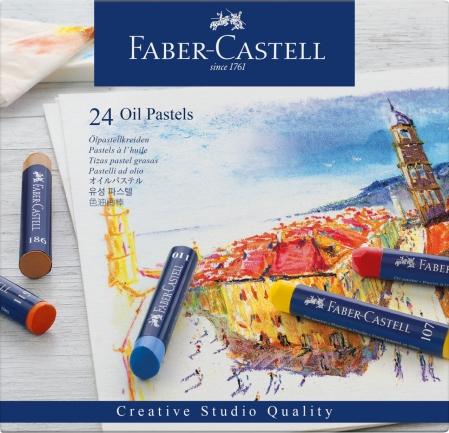 Creioane Ulei Pastel 24 culori Faber-Castell0