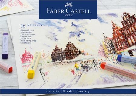 Creioane Pastel Soft 36 Culori Faber-Castell0