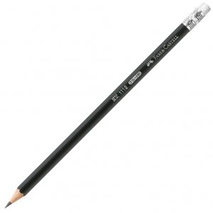 Creion Grafit Cu Guma 1112 HB Faber-Castell0