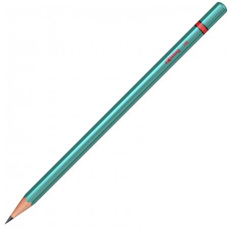 Creion Grafit Metallic Green HB Rotring [0]