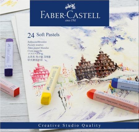 Cutie Creioane Pastel Soft 24 culori Faber-Castell0