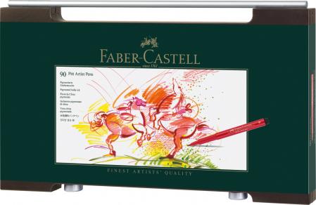 Cutie lemn 90 buc Pitt Artist Pen Faber-Castell [2]