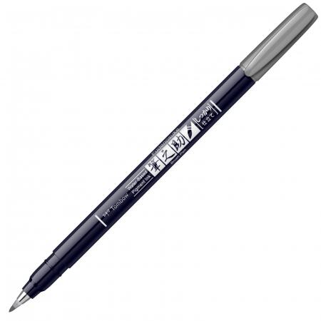 Marker Caligrafic Fudenosuke Hard Small Writing Vivid Grey, Tombow [0]