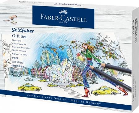 Set Cadou 17 Creioane Colorate Goldfaber  + Accesorii Faber-Castell [0]