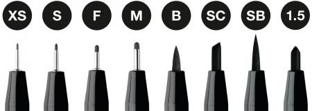 Pitt Artist Pen Set 8 Buc Negru Faber-Castell [1]