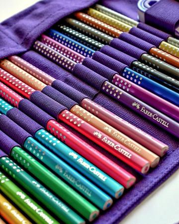 Rollup 20 creioane colorate Sparkle +1 Creion Sparkle + accesorii Faber-Castell [2]
