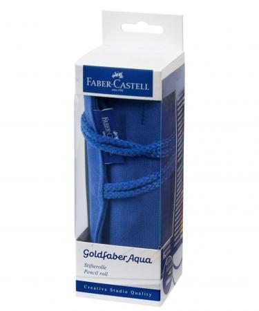 Rollup 27 Creioane Colorate Aquarelle Goldfaber+Accesorii Faber-Castell2