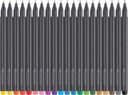 Set 20 culori Liner 0.4 mm Grip Faber-Castell [1]
