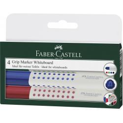 Set 4 culori Marker Whiteboard Grip 1583 Faber-Castell0