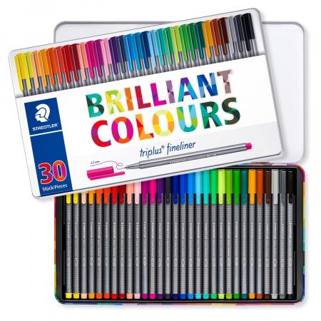 Set 30 culori Fineliner Triplus 0.3 mm Staedtler [1]