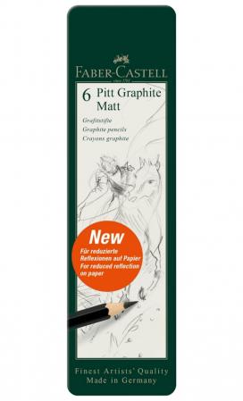SET 6 BUC CREION GRAFIT MAT PITT FABER-CASTELL [1]