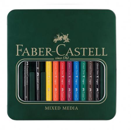 Set 8 Creioane A.DURER MAGNUS+1PAP+PENSULA Faber-Castell [0]