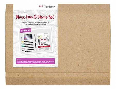 Set Creativ LETTERING Have Fun @ Home Sets Tombow [1]