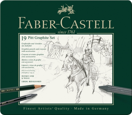 Set Pitt Monochrome Grafit 19 Buc Faber-Castell1