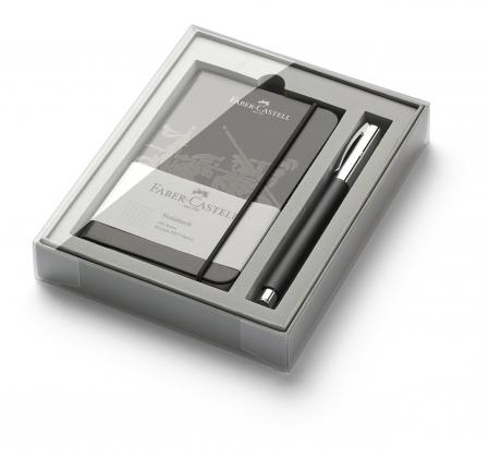 Set Promo Stilou Ambition OpArt White Sand + Agenda A6 Faber-Castell0