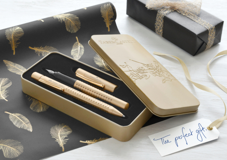 Set Stilou + Pix Grip 2011 Gold Faber-Castell [2]