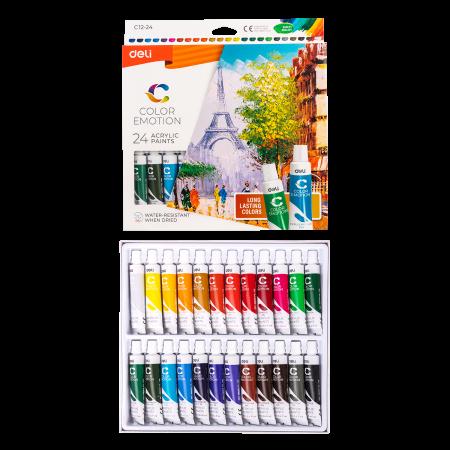 Culori Acrilice 24 Culori 12 ML Deli1