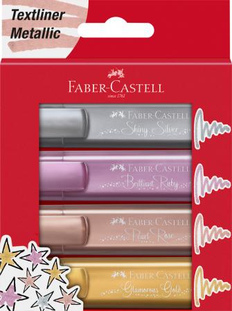 Textmarker Set 4 culori Metalizate 1546 Faber-Castell0