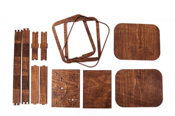 Cutie Cadou cu Suport din Lemn pentru Fotografii 10x15cm Personalizabila [5]