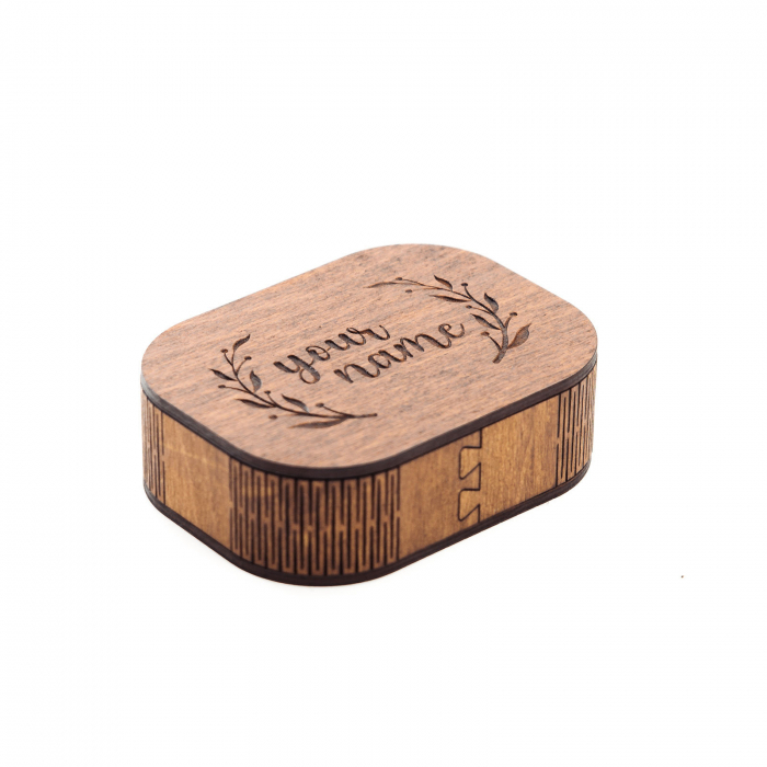 Cutie din Lemn  pentru Carti de Vizita Personalizabila [1]