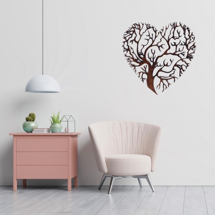 Decoratiune Heart Tree din Lemn [3]