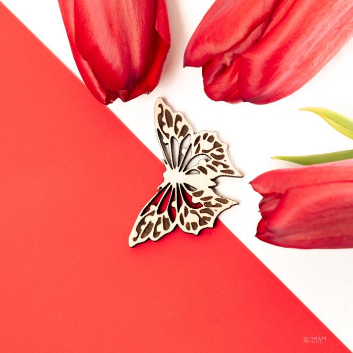Martisor Fluture din Lemn [2]
