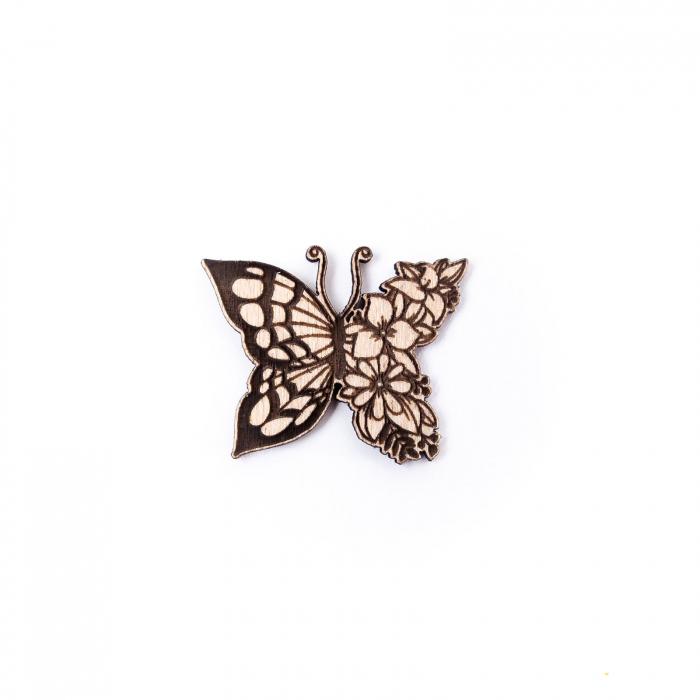 Martisor Fluture-Floare din Lemn [1]