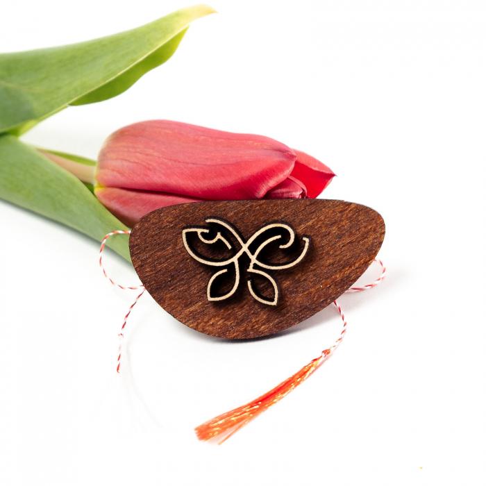 Martisor Fluture Simbol din Lemn [0]