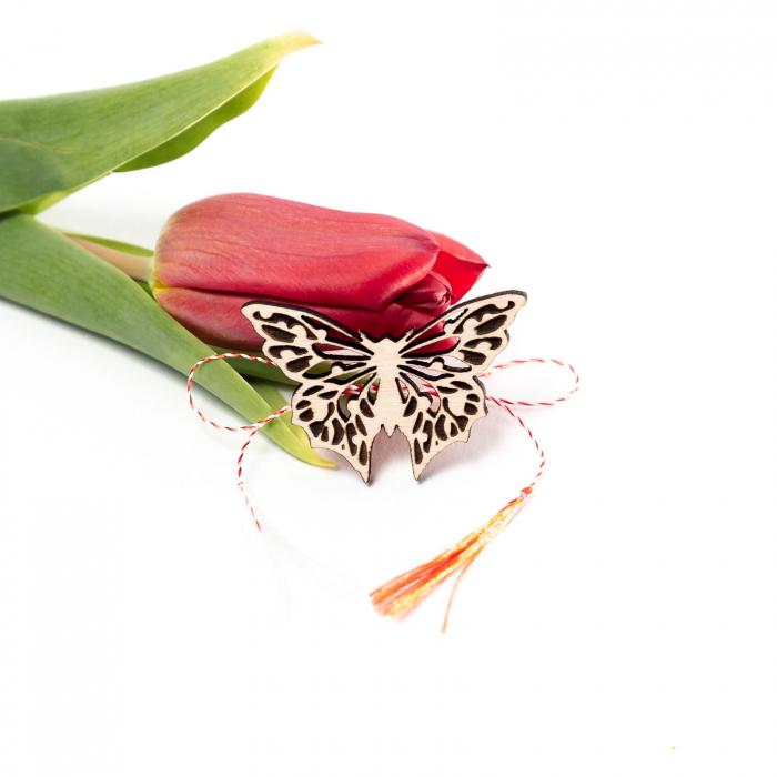 Set 3 Martisoare din Lemn Fluture [3]