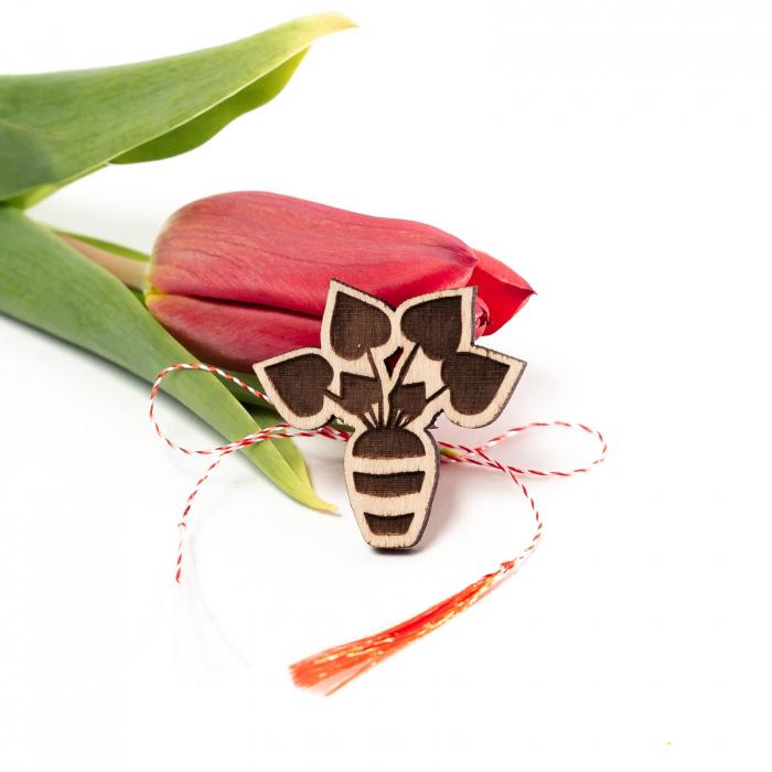 Set 6 Martisoare din Lemn Plant Lover [4]