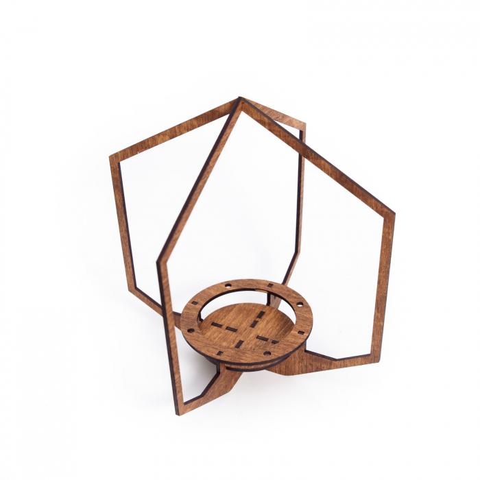 Masca_Ghiveci_Alba_cu_Suport_Lemn_Hexagon_decorativa [3]