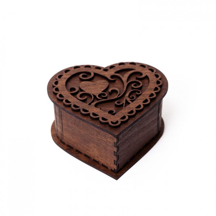 Set cutie inima cu cercei heart fall si suport floral pahare de vin [3]
