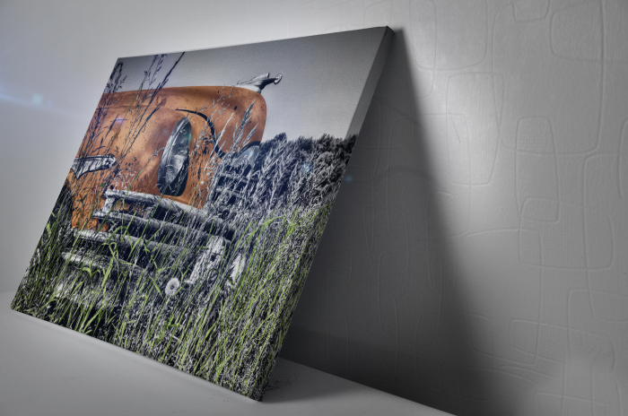 Tablou Canvas - Old car Orange [2]