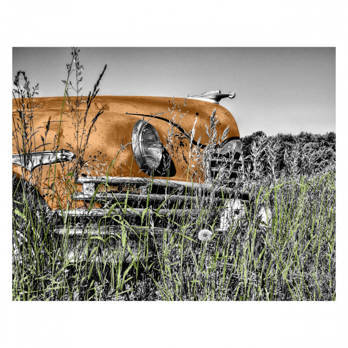 Tablou Canvas - Old car Orange [0]