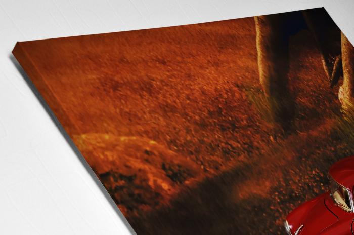 Tablou Canvas - Red Car [3]