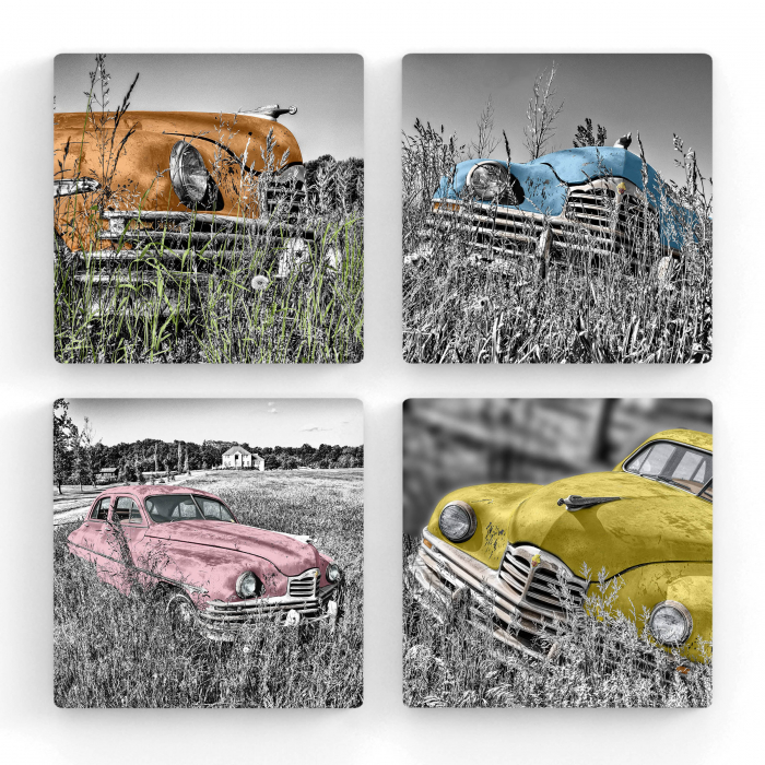 Tablou Multi-Canvas Old Cars Gallery [0]